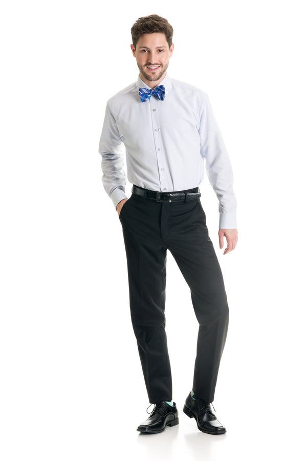 Black Slim Fit Suit Pants - Super 120's Fabric