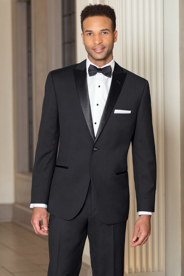 Black Slim Fit Tuxedo Coat