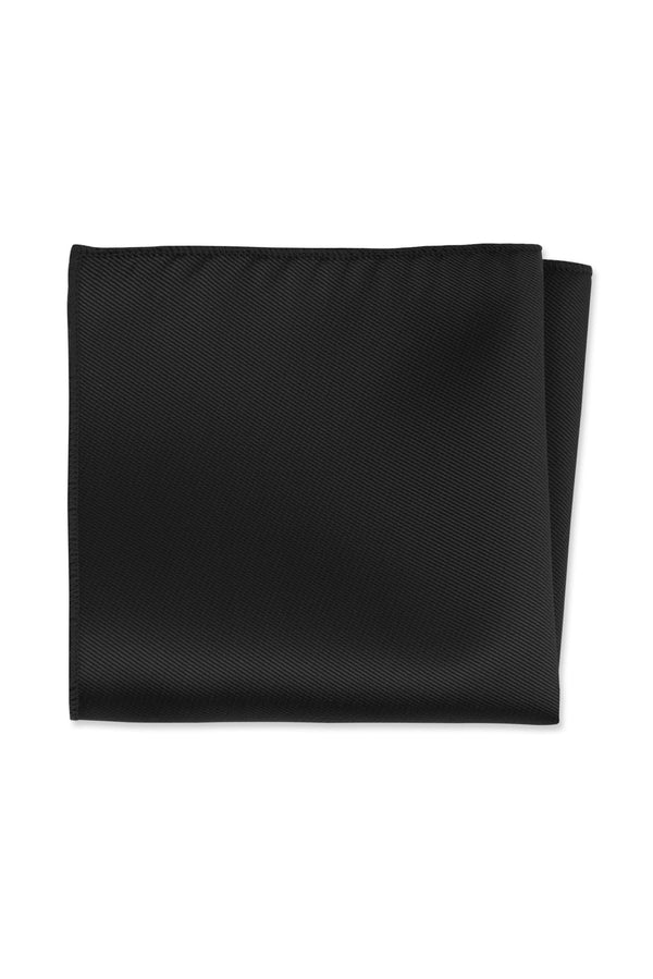 Black Solid Pocket Square
