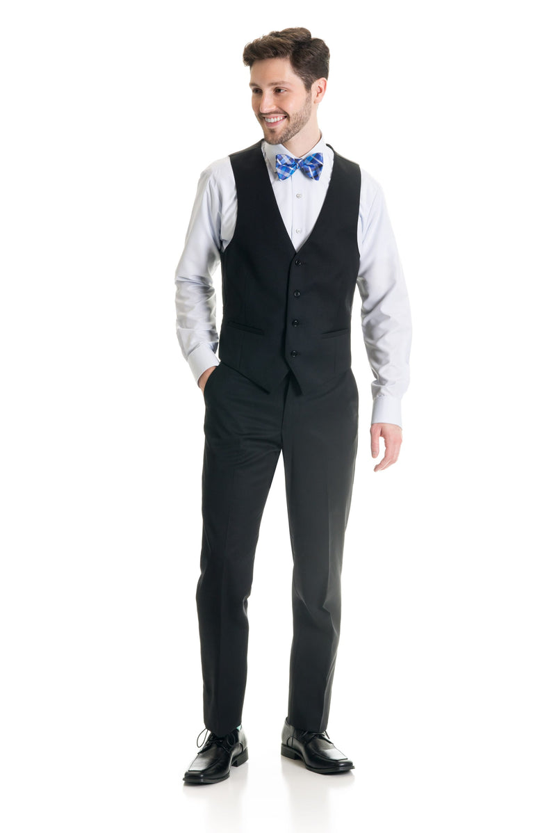Black Suit Separates Vest - Super 120's