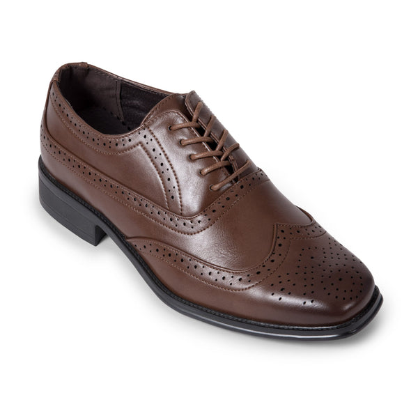 Brown Wing Tip Derby Shoe