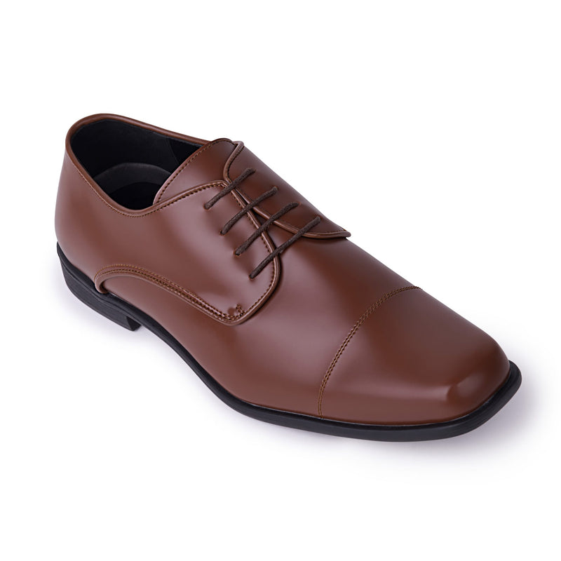 Cognac Brown Oxford Shoe