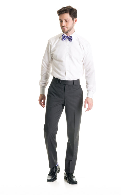 Dark Grey Slim Fit Suit Pants