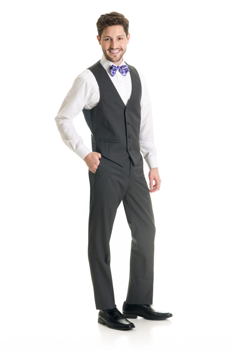 Dark Grey Suit Separates Vest