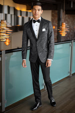 Granite Paisley Slim Fit Tuxedo Coat - At Event Hall