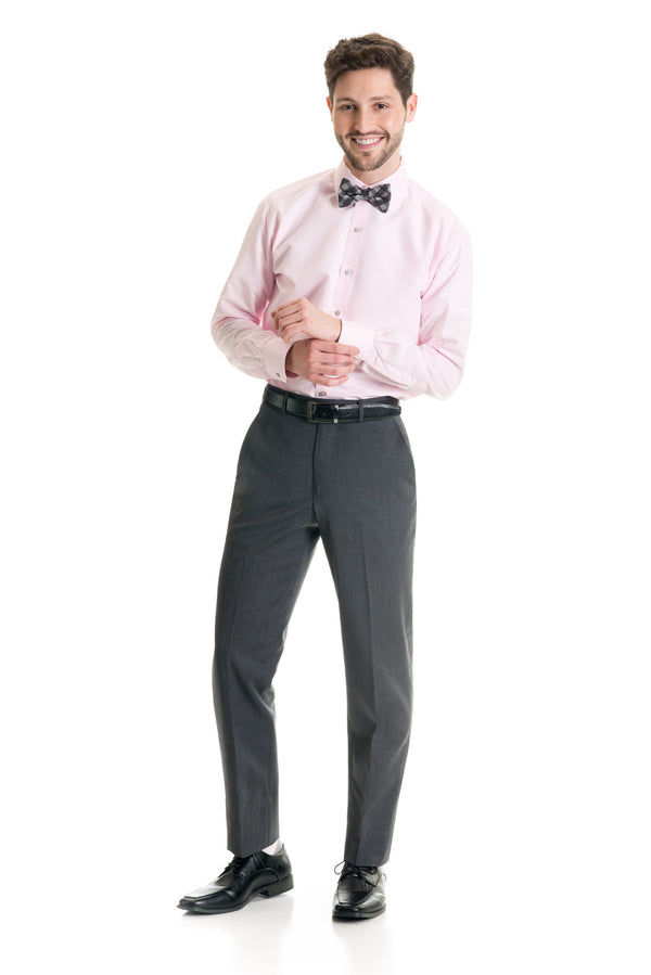 Grey Slim Fit Suit Pants - Super 120's