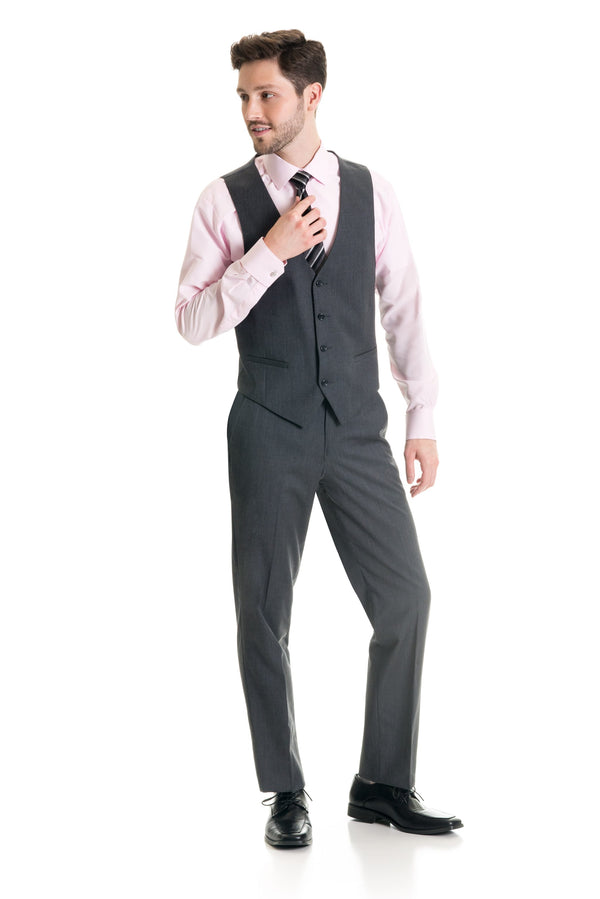 Grey Suit Separates Vest - Super 120's