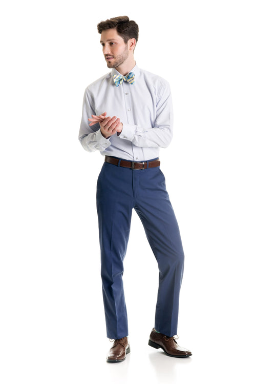 Indigo Slim Fit Suit Pants