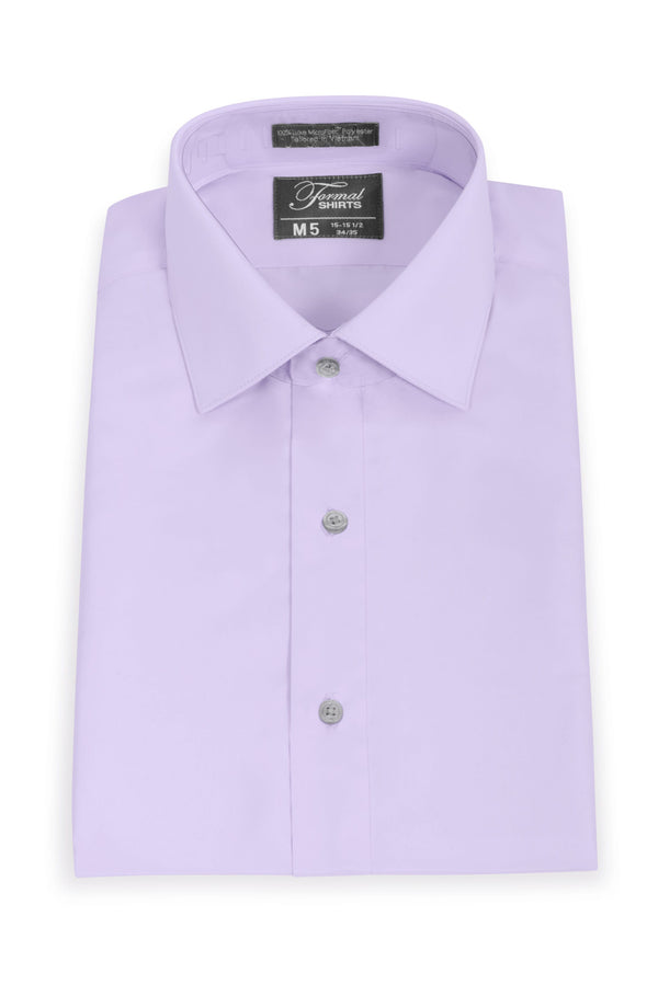 Lavender Slim Fit Microfiber Dress Shirt