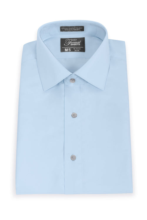 Light Blue Slim Fit Microfiber Dress Shirt