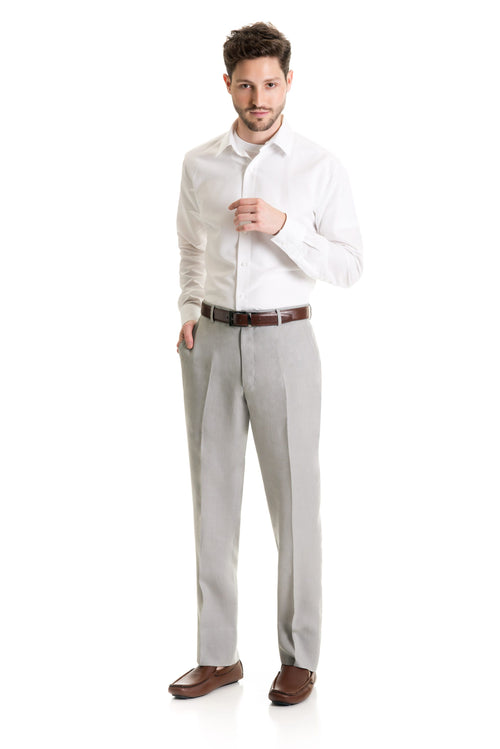 Light Grey Destination Linen Suit Pants