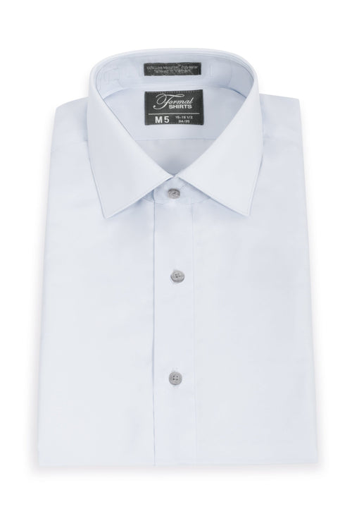 Light Grey Boys Microfiber Dress Shirt