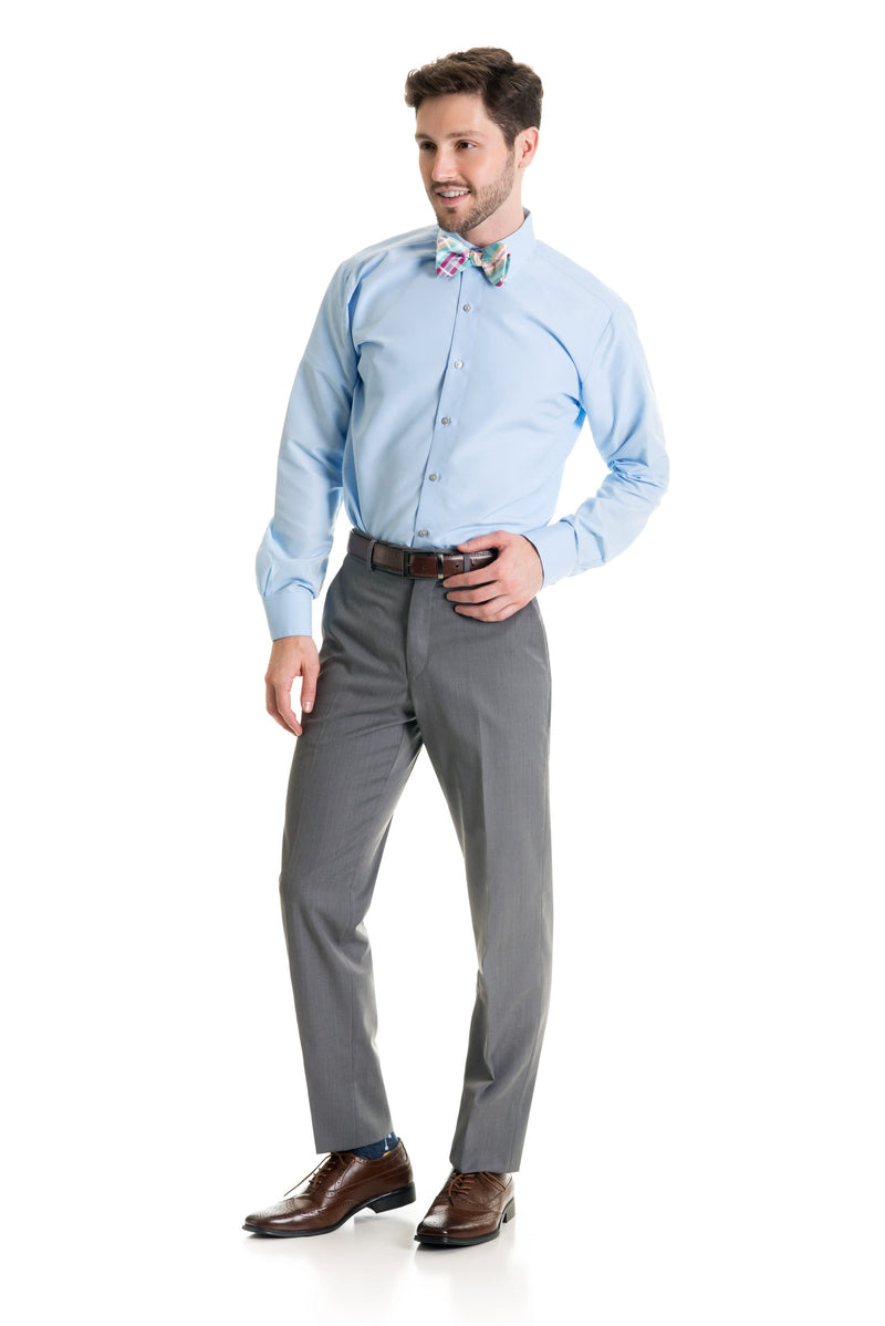 Light Grey Slim Fit Suit Pants