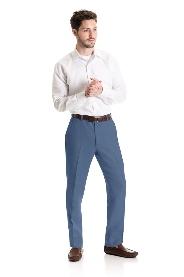 Light Indigo Destination Linen Suit Pants