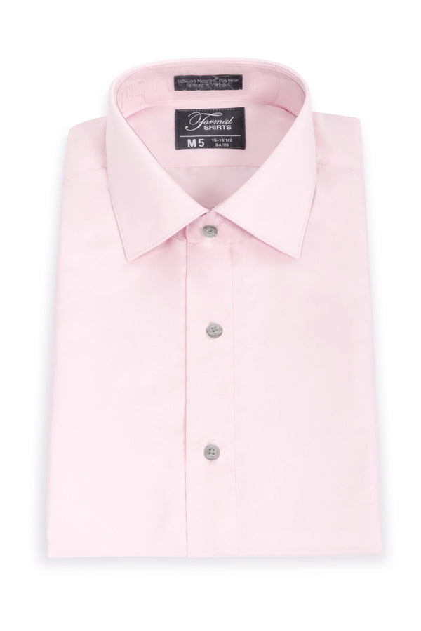 Light Pink Slim Fit Microfiber Dress Shirt