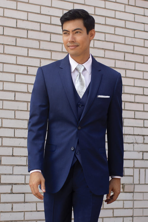 Blue Performance Slim Fit Suit Pants
