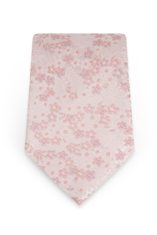 Floral Blush Self-Tie Windsor Tie - Detail