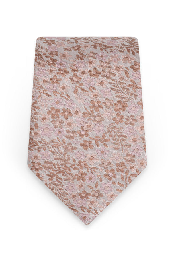 Floral Rose Gold Self-Tie Windsor Tie