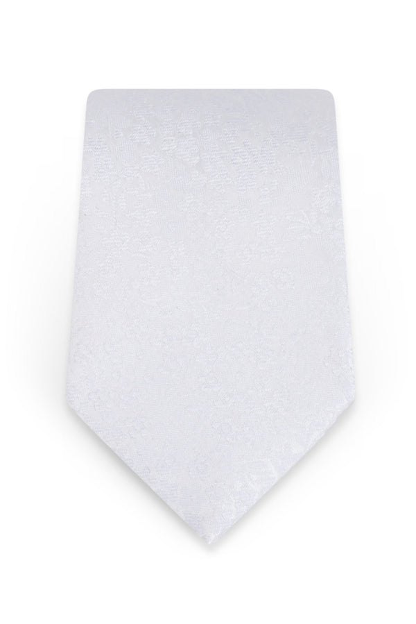 Floral White Self-Tie Windsor Tie