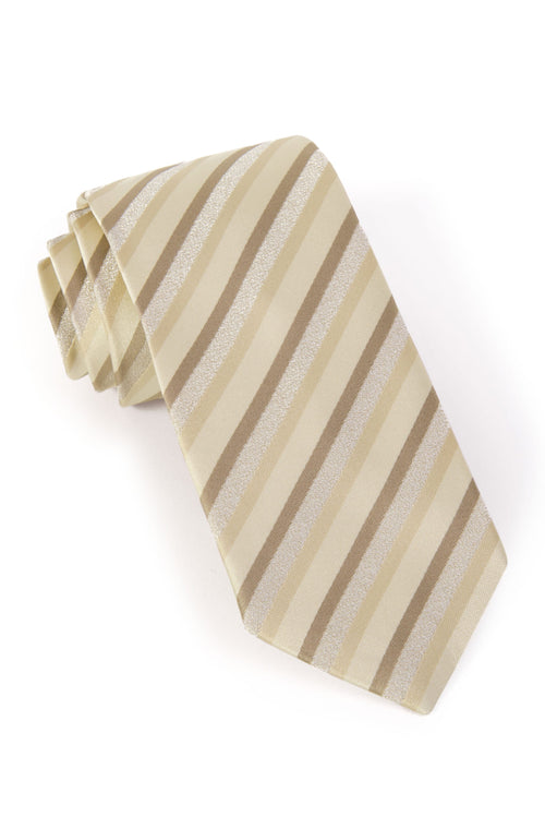 Striped Ties - Tan