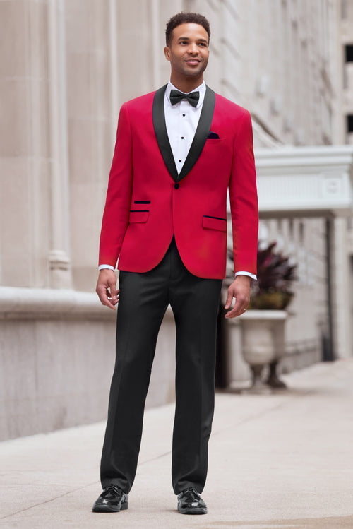 Red Ultra Slim Fit Tuxedo