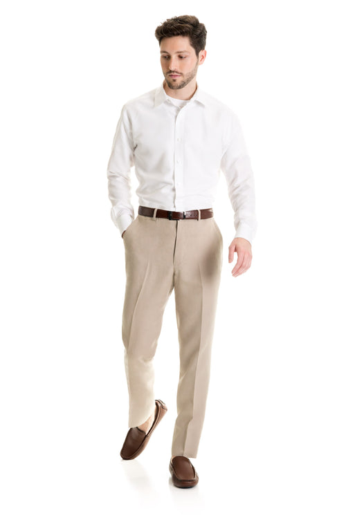Tan Destination Linen Suit Pants