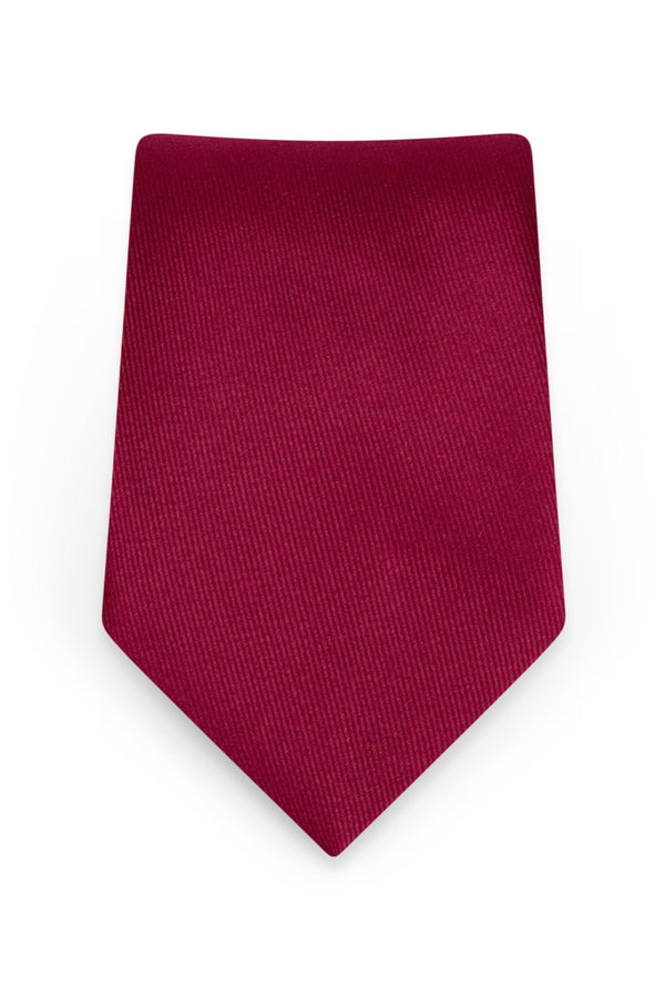Solid Apple Red Self-Tie Windsor Tie