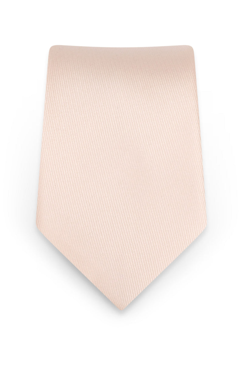 Solid Blush Self-Tie Windsor Tie - Detail