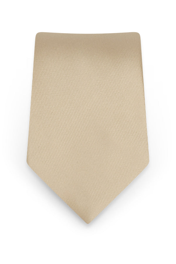 Solid Champagne Self-Tie Windsor Tie