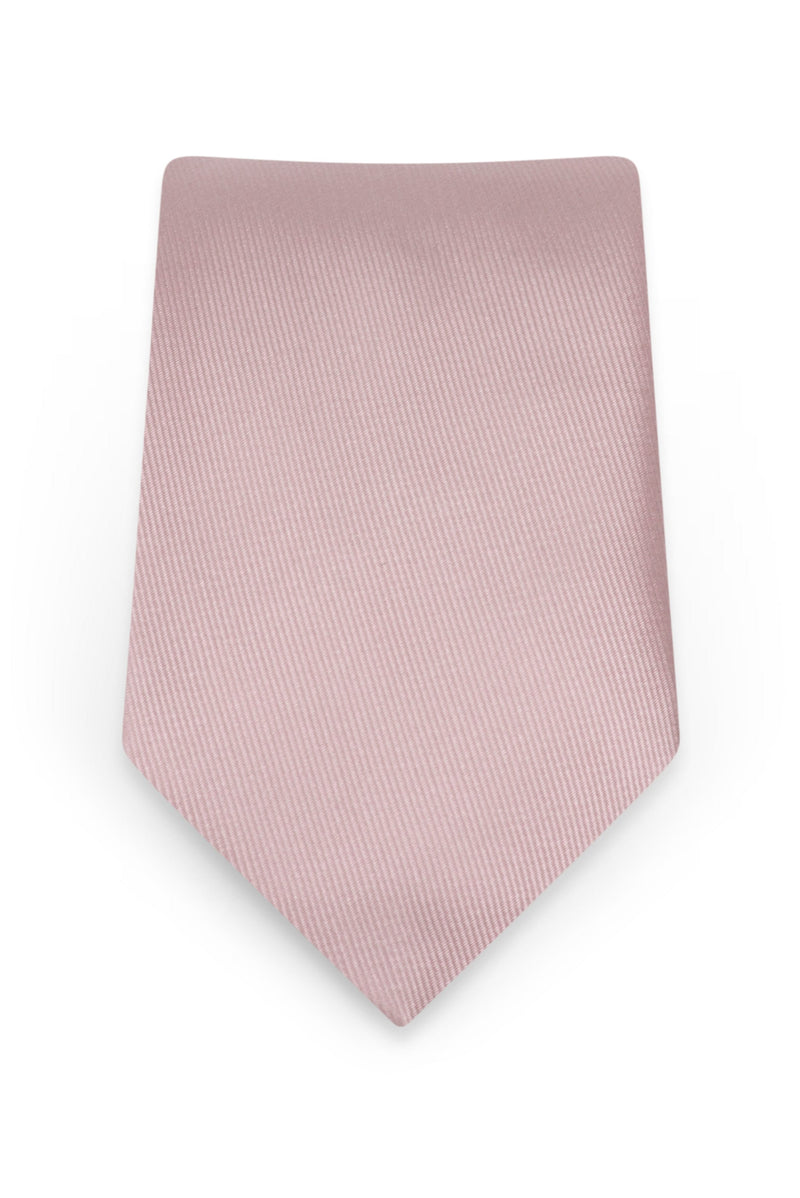 Solid First Blush Self-Tie Windsor Tie - Detail