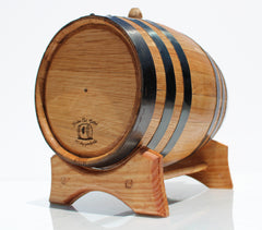 3 Liter Golden Oak Barrel for Aging – Black Steel Hoops - Golden Oak Barrel
