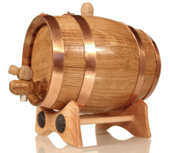 1 Liter Golden Oak Barrel for Aging – Copper Hoops - Golden Oak Barrel
