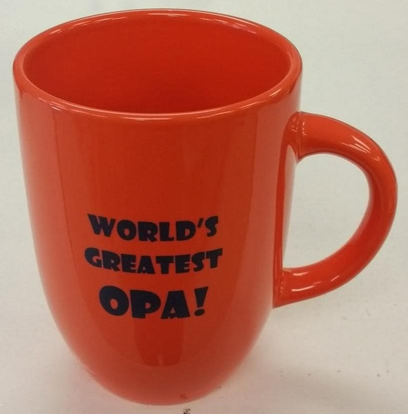 World's Greatest Opa Mug Orange 12oz