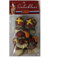 Dutch Traditions Sint & Piets Chocolate Heads 125g