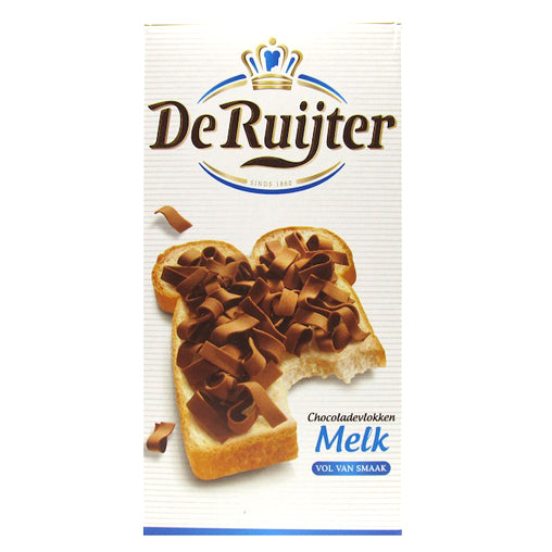 DeRuijter Milk Chocolate Flakes 300g