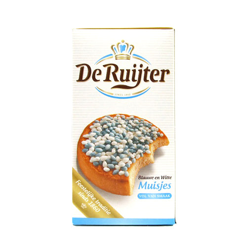 DeRuijter Blue and White Muisjes 280g