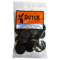 Dutch Traditions Sf Sweet Coins Licorice 75g