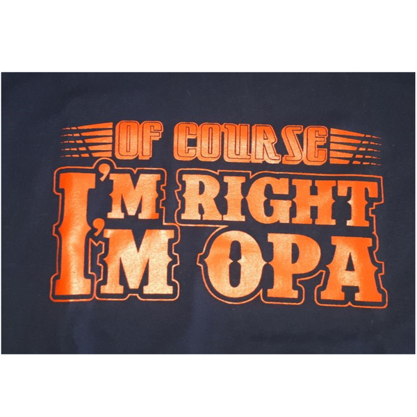 Of Course I'm Right T-Shirt