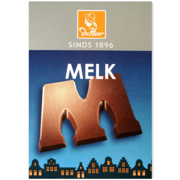 DeHeer chocolate letter milk 65g