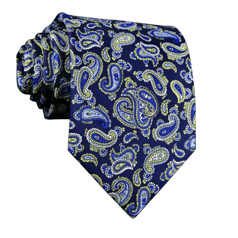 LUXURY TIE | BLUE PRINT PAISLEY | SILK