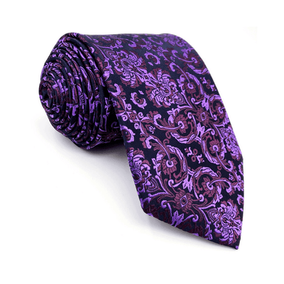TIE | PURPLE FLORAL | SILK