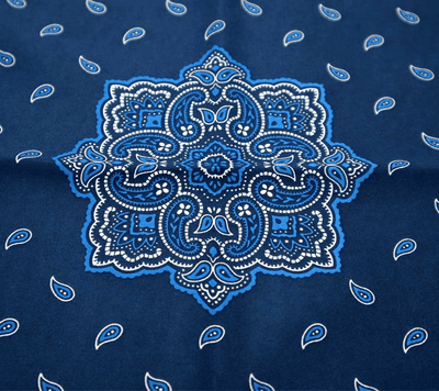 POCKET SQUARE | BLUE WHITE PAISLEY | SATIN