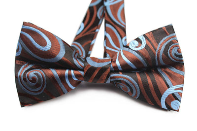 BOW TIE | BROWN BLUE FLORAL | SILK