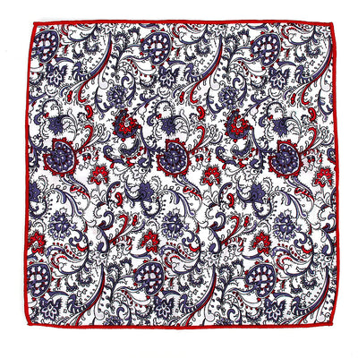 POCKET SQUARE | RED FLORAL | COTTON