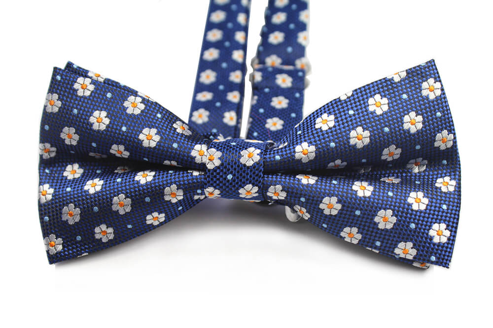 BOW TIE | BLUE FLORAL | SILK