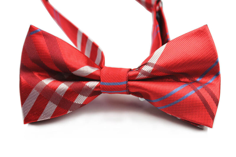 BOW TIE | RED PLAID | SILK