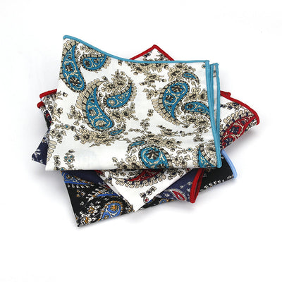 BROOKLYN POCKET SQUARE SET | PAISLEY | COTTON
