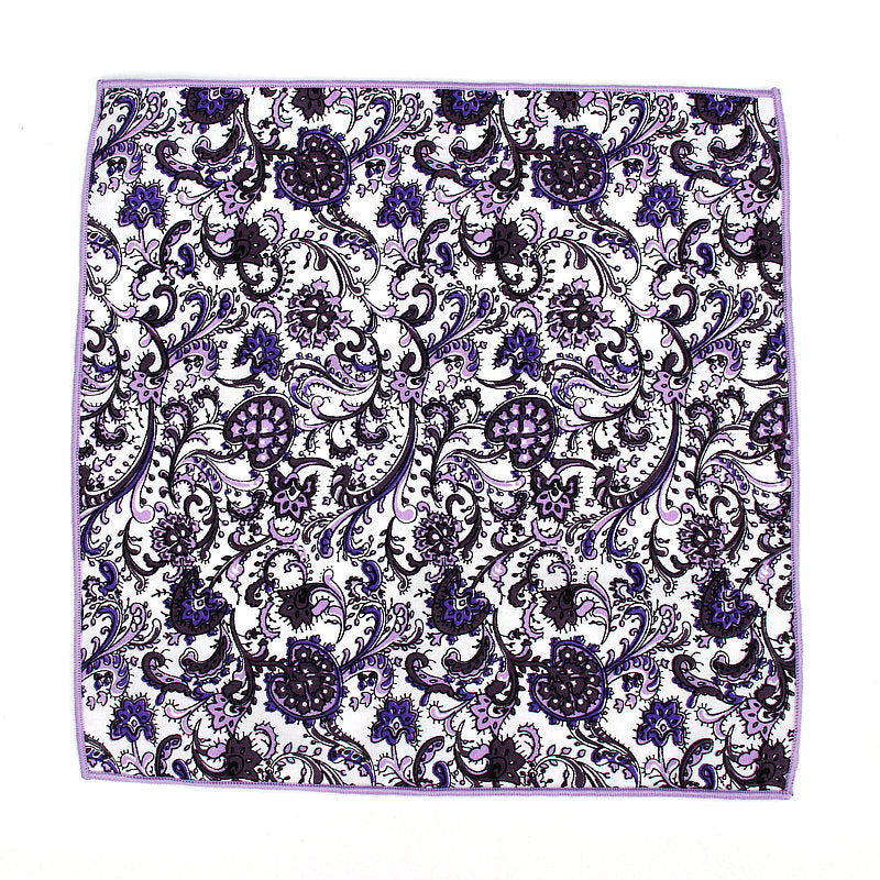 POCKET SQUARE | LAVANDER FLORAL | COTTON