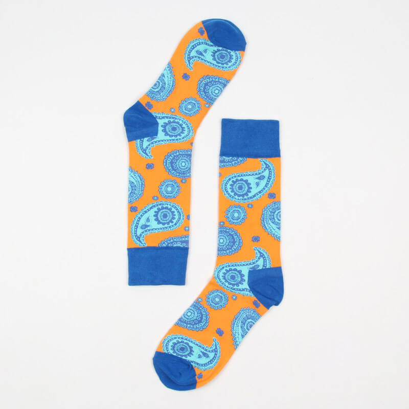 SOCKS | BLUE PAISLEY | COTTON