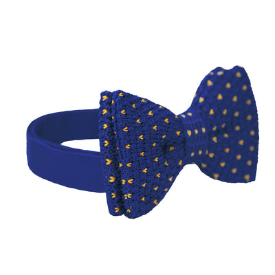 BOW TIE | BLUE YELLOW KNITED | WOOL